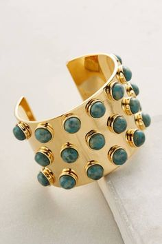 Howlite-Spotted Cuff by Lele Sadoughi
