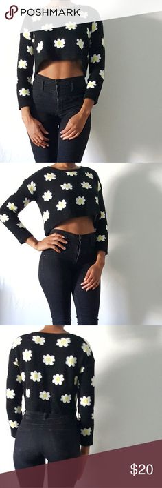 36.5 Daisy crop sweater Daisy black crop 36 Point 5 Sweaters