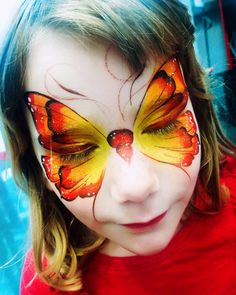 """201 Likes, 6 Comments - Nancy Wu (@cally_luna) on Instagram: """"A little butterfly. #OnTheJob #Butterfly #FacePainting #FaceArt #RainbowRascals"""""""