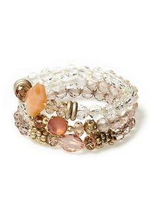 Sabine Three Strand Beaded Stretch Bracelets | Piperlime