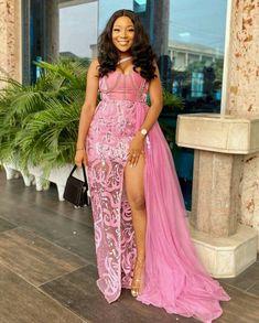 African Bridal Dress, Nigerian Lace Dress, Nigerian Lace Styles, Aso Ebi Lace Styles, African Party Dresses, African Lace Styles, African Wedding Attire, Lace Dress Styles, African Lace Dresses