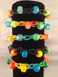 Geocaching Colors Rubber Band Bracelet With by CoolGeocachingSwag, $1.50
