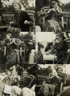 Virginia Woolf photographed by Lady Ottoline Morrell at Garsington Manor in 1926. #virginiawoolf