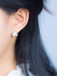 Angles for Days Sterling Silver Earrings #SterlingSilverEarrings