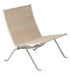 Fritz Hansen Lounge Chair - The discrete and elegant lounge chair epitomizes the work of Poul Kjærholm and his search for the ideal type-form and industrial dimension, which . Hansen Is, Fritz Hansen, Poul Kjaerholm, Modern Furniture, Outdoor Furniture, Danish Design Store, Lounge Chair Design, Outdoor Chairs, Outdoor Decor