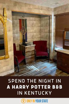 Spend the night in this cozy, amenity-filled Harry Potter themed AirBnB in Kentucky. Slytherin, Hogwarts, Best Bucket List, Hidden Beach, Hopes And Dreams, Washington State, Travel Ideas, Kentucky, Harry Potter