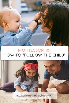 """Following the child is a big part of Montessori parenting. But how exactly do you """"follow the child"""" while practicing Montessori at home with a 1 year old, 2 year old, or 3 year old? Whether you're giving Montessori homeschool a try or raising a Montessori toddler full-time, you can learn more here! #montessori #montessoriathome #montessoritoddler #followthechild #toddlers #1yearold #2yearold #3yearold #kids #parenting Montessori Toddler, Montessori Activities, Infant Activities, Montessori Homeschool, Natural Parenting, Gentle Parenting, Peaceful Parenting, Parenting Tips, Early Learning"""