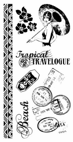 New Cling Stamps from Tropical Travelogue! Revealed on our blog today