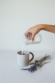 Coconut London Fog with Lavender Simple Syrup — Treasures & Travels
