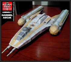 Star Wars - BTL Y-wing Starfighter Free Paper Model Download - http://www.papercraftsquare.com/star-wars-btl-y-wing-starfighter-free-paper-model-download.html