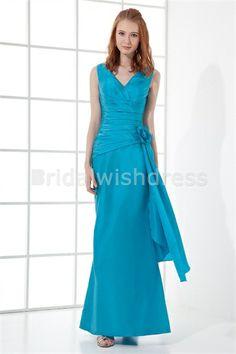 Floor-Length Handmade Flower(s) Taffeta Best Bridesmaid Dresses