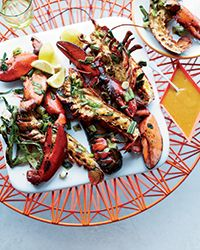 Grilled Lobsters with Miso-Chile Butter | Food & Wine