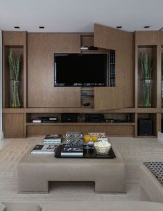 Living room interior storage and interior at the same time! Tv Wall Design: Yes … – Typical Miracle Living Room Wall Units, Living Room Tv Unit Designs, Living Room Interior, Home Living Room, Home Interior Design, Living Room Decor, Tv Wall Unit Designs, Living Room Tv Cabinet, Modern Tv Room