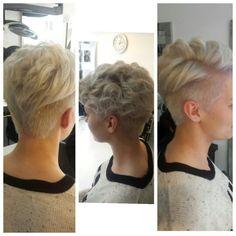 Undercut, blonde short hair illumina wella