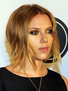 Scarlett Johansson choppy bob