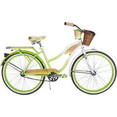 """26"""" Huffy Panama Jack Women's Cruiser Bike, White/Green (http://www.walmart.com/ip/26-Huffy-Panama-Jack-Women-s-Cruiser-Bike-White-Green/33396340)"""