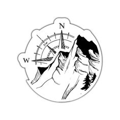 Logo Montagne, Hand Tattoos, Sleeve Tattoos, Berg Tattoo, Hiking Tattoo, Best Small Business Ideas, Pix Art, Compass Design, Mountain Tattoo