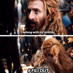 #FiliOut!! I will always have Kili feels, but Fili, man Fili is like one of the best brothers anyone can have.