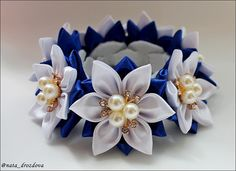Фотография Nylon Flowers, Fabric Flowers, Paper Flowers, Ribbon Hair, Ribbon Bows, Bun Wrap, Kanzashi Flowers, Baby Bows, Flower Shape