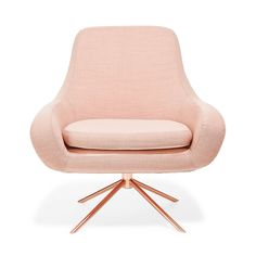 Softline Apricot Swivel Curved Chair