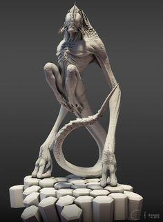 ArtStation - Shrieker Clay Renders, Ben Erdt