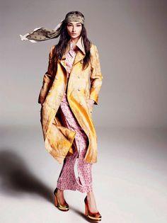 Duchess Dior: Bruna Tenorio by Marcin Tyska for ELLE UK May 2015