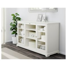 LIATORP Sideboard, white, 57 Are you a romantic at heart? Combine with other furniture in the LIATORP series for a complete, beautiful look. Buffet Ikea, Buffet Console, Buffet Cabinet, Glass Cabinet Doors, Buffet Tables, White Sideboard Buffet, Display Cabinets, Sideboard Ikea, Glass Sideboard