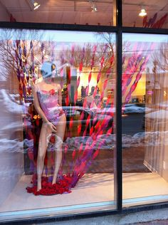 February 2011 - Lilac Lingerie Valentine's Day window display