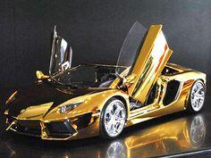 $7.5 Million Gold Lamborghini Aventador #Luxury