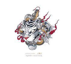 The Struggle is Constant - Mind over MatterVector illustration. Tiger and Snake. Black Art Tattoo, Black And Grey Tattoos, Big Tattoo, Tiger Tattoo Design, Tattoo Designs, Japanese Tiger Tattoo, Arm Drawing, Mind Over Matter, Life Tattoos