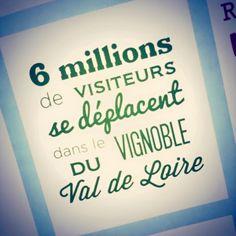 Incroyable mais vrai, 6 millions de visiteurs se sont déplacés dans le vignoble du Val de Loire l'année dernière #vin #tourisme