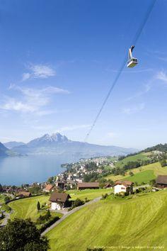 Weggis-Rigi Kaltbad Aerial Cableway, Weggis, Switzerland