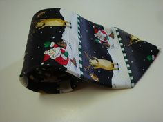 Santa Neck Tie Christmas NeckTie 100% Silk Reindeer Football American Greetings #AmericanGreetings #NeckTie