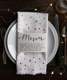 Valentines Day Menu Napkin Holder (Printable)