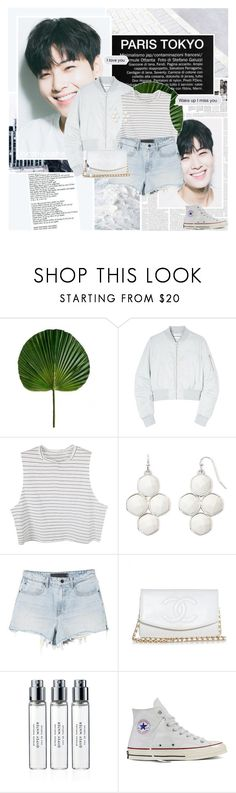 """""""413: I fell for you at first sight"""" by unicorn-plushie ❤ liked on Polyvore featuring Again, Won Hundred, Liz Claiborne, Alexander Wang, Chanel, Byredo, Converse and Too Late"""