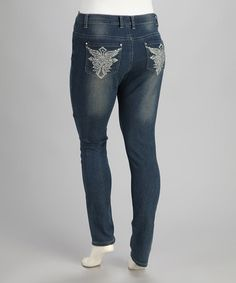 Take a look at this Medium Blue Jeans - Plus by Starwear on #zulily today!