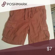 Crewcuts boys drawstring cargo shorts size 5 Great condition Crewcuts boys drawstring cargo shorts size 5. I consider the color to be rust. crewcuts Bottoms Shorts