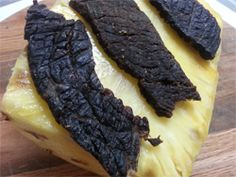 This pineapple beef jerky recipe is absolutely delicious to say the least! It has a sweet and slightly salty flavor with a tangy accent of fruity pineapple mmmmm...One of the many beef jerky recipes that I've grown to love. Try it out guys and girls and let me know whatcha think!