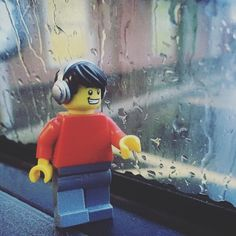"We Are Orion ••• Toys on Instagram: ""Hector loves the rain. It's nice and calming. If only he'd take his headphones off so he can hear it sounds as peaceful as it looks. #Lego #minifigure #minifigures #rain #rainisjustliquidsunshine"""