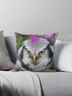 Taken in Balsfjord, Norway 2018 Designer Throw Pillows, Pillow Design, Sell Your Art, Norway, Owl, Vibrant, It Is Finished, Artists, Bird