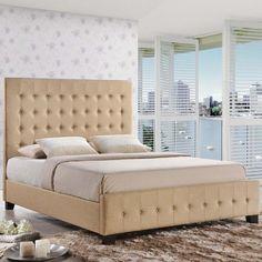 SKYE QUEEN BED IN IVORY - Mocofu