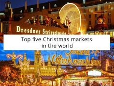 Top five Christmas markets in the world - Visiting a Christmas market is a journey through all senses  #xmas #travel #globe #babasails #mood