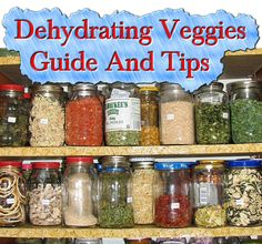 Dehydrating Veggies Guide And Tips  Read HERE --- > http://www.livinggreenandfrugally.com/dehydrating-veggies-guide-tips/