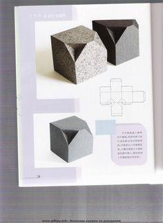 cajas plegables: libros de origami - Ideas artesanías - artesanías para niños