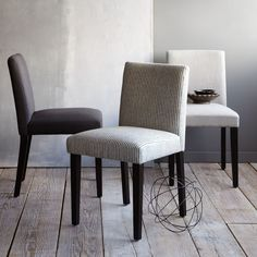 Porter Upholstered Chair from West Elm. I actually really like the striped one.