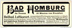 Original-Werbung/ Anzeige 1897 - BAD HOMBURG - ca. 90 x 35 mm