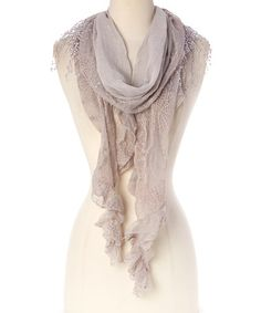Another great find on #zulily! Light Gray Fringe Oblong Scarf #zulilyfinds