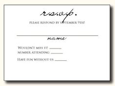 5 types of wedding rsvp card wording