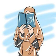 Islamic Girl Pic, Islamic Art, Couple Cartoon, Girl Cartoon, Muslim Pictures, Desenho Pop Art, Hijab Drawing, Islamic Cartoon, Anime Muslim