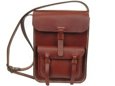 Leather Messenger Bag by MacPhersonLeather on Etsy